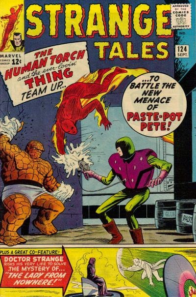 Strange Tales #124, the Human Torch vs Paste Pot Pete