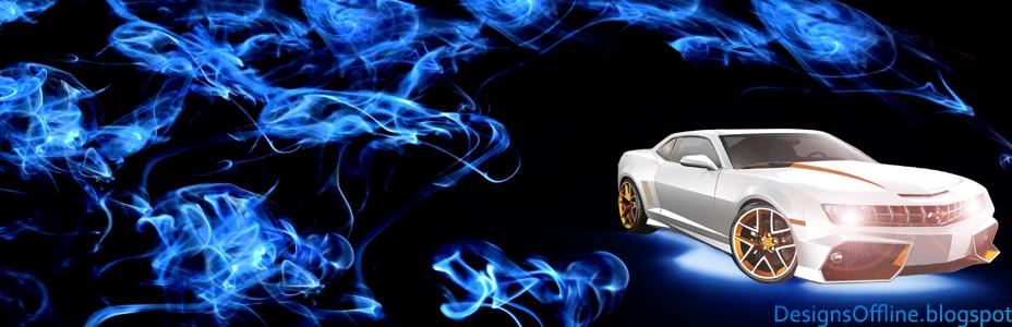 fire blue camaro capa para facebook