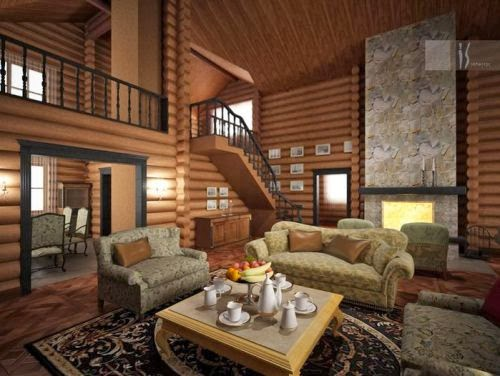 Country house and cottage living room style ideas for Country living home decor