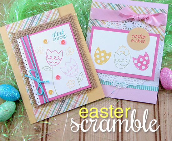 Easter Scramble Stamp set by Newton's Nook Designs