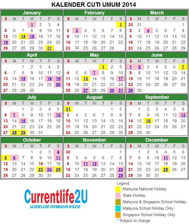 Chinese Birthday Calendar 2014