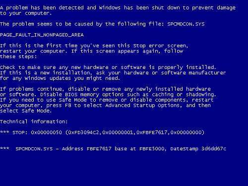 Arreglar pantallazo azul sin formatear