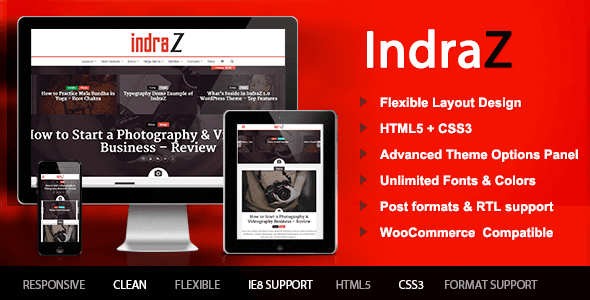 Download - IndraZ – Responsive News Magazine WordPress Theme