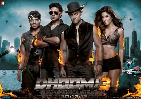 Brand New Poster of Dhoom 3 Ft. Aamir, Katrina, Abhishek, Uday