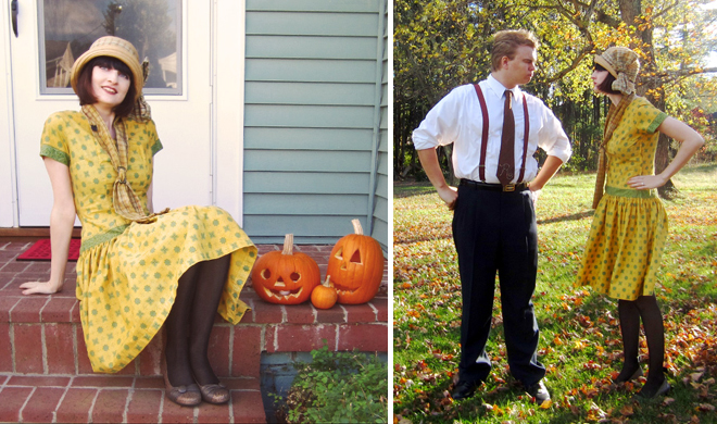 Home-made Halloween costumes