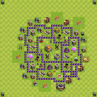 Formasi Base Clash of Clans TH7 Trophy 3