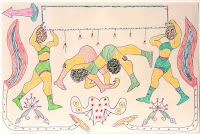 Female Muscle Folk Art