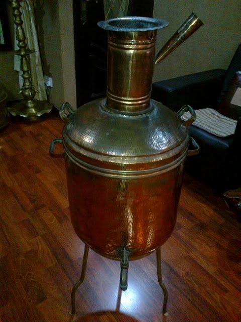 Tamil treasure vintage water boiler for Copper water boiler