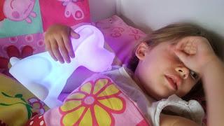 going sleep with her night light