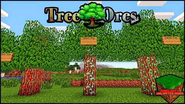 TreeOres Mod Minecraft