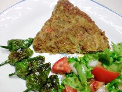 Tortilla Vegana de Lentejas.