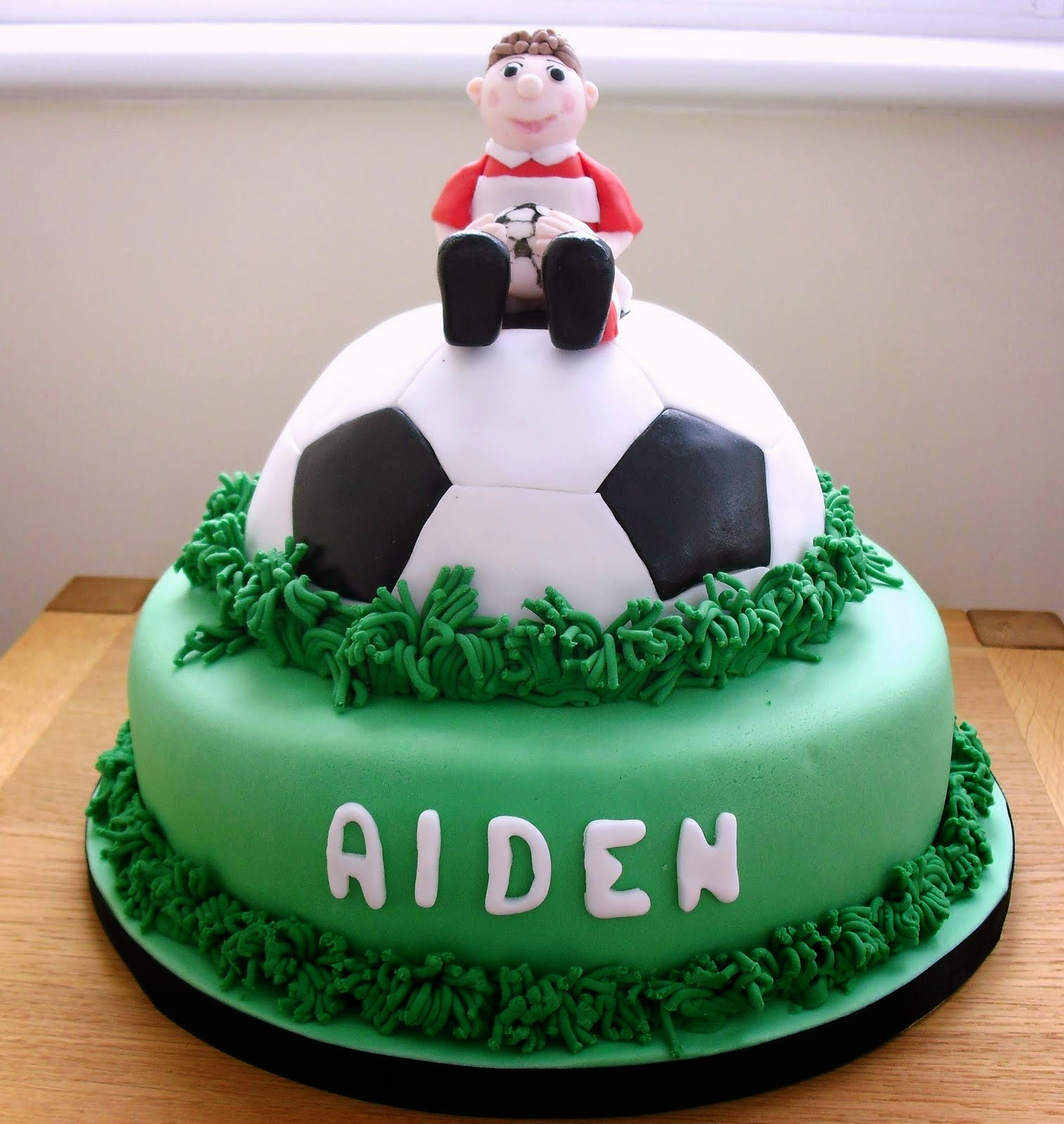 football decorated cakes