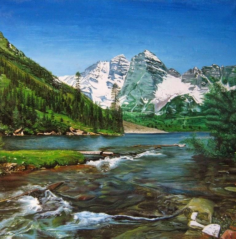 paisajes-nevados-cuadros-al-oleo