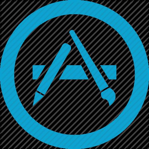 شعار أيقونة متجر تطبيقات ابل