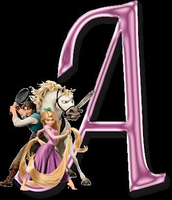 Alfabeto de Enredados (Rapunzel).