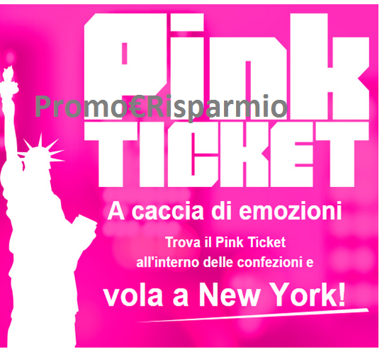 Logo Vinci TicketOne ogni giorno e vola a New York
