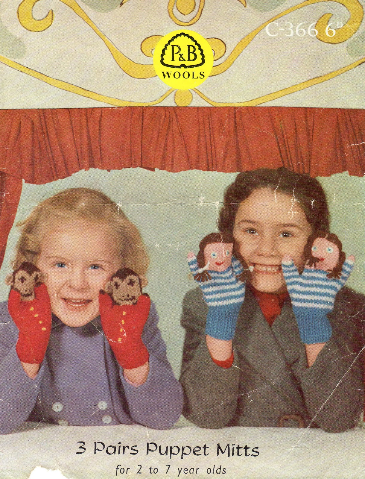 Puppet Gloves Knitting Pattern : Marilla Walker: Puppet mittens - vintage knitting pattern!