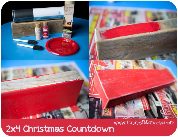 Make Your Own Easy Christmas Countdown at www.RaisingMemories.com