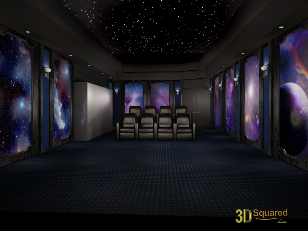 Home Theater Design And Beyond By 3 D Squared Inc Home Theater Design Space Theme