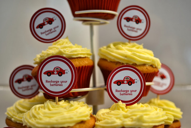 Stuck on you Racing cupcake toppers