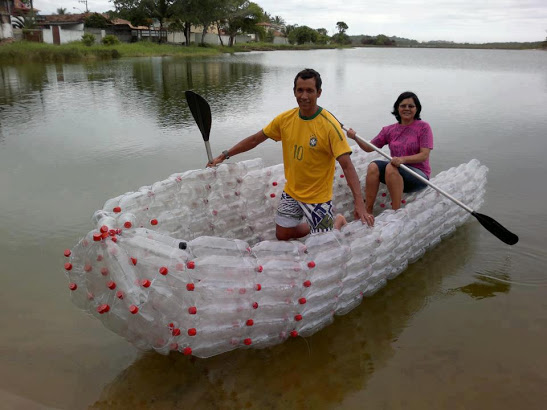 Boat Made From Plastic Bottles