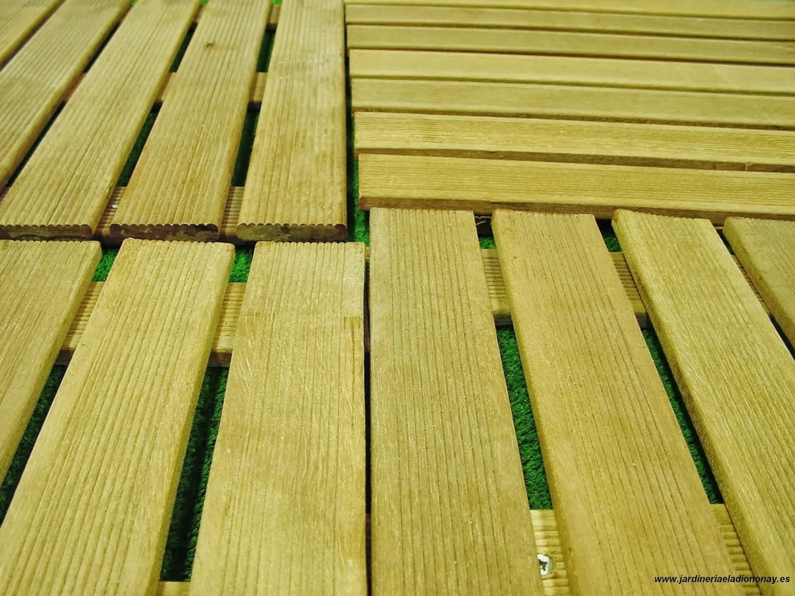 Jardineria eladio nonay losetas o paneles de madera jardiner a eladio nonay - Paneles de madera para jardin ...