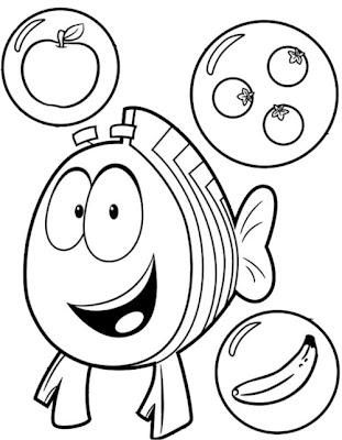 Desenho Bubble Guppies para colorir