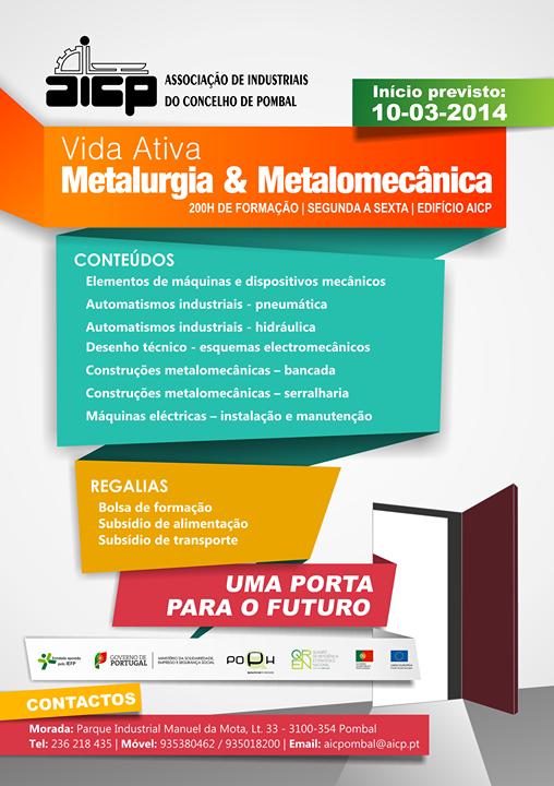 Curso remunerado de Metalurgia e Metalomecânica em Pombal (VIDA ATIVA)
