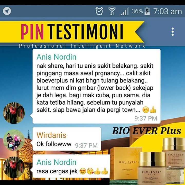 TESTIMONI BIO-EVER PLUS (Age Reversing Cream)
