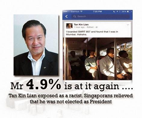 Tan Kin Lian Racist remarks singapore