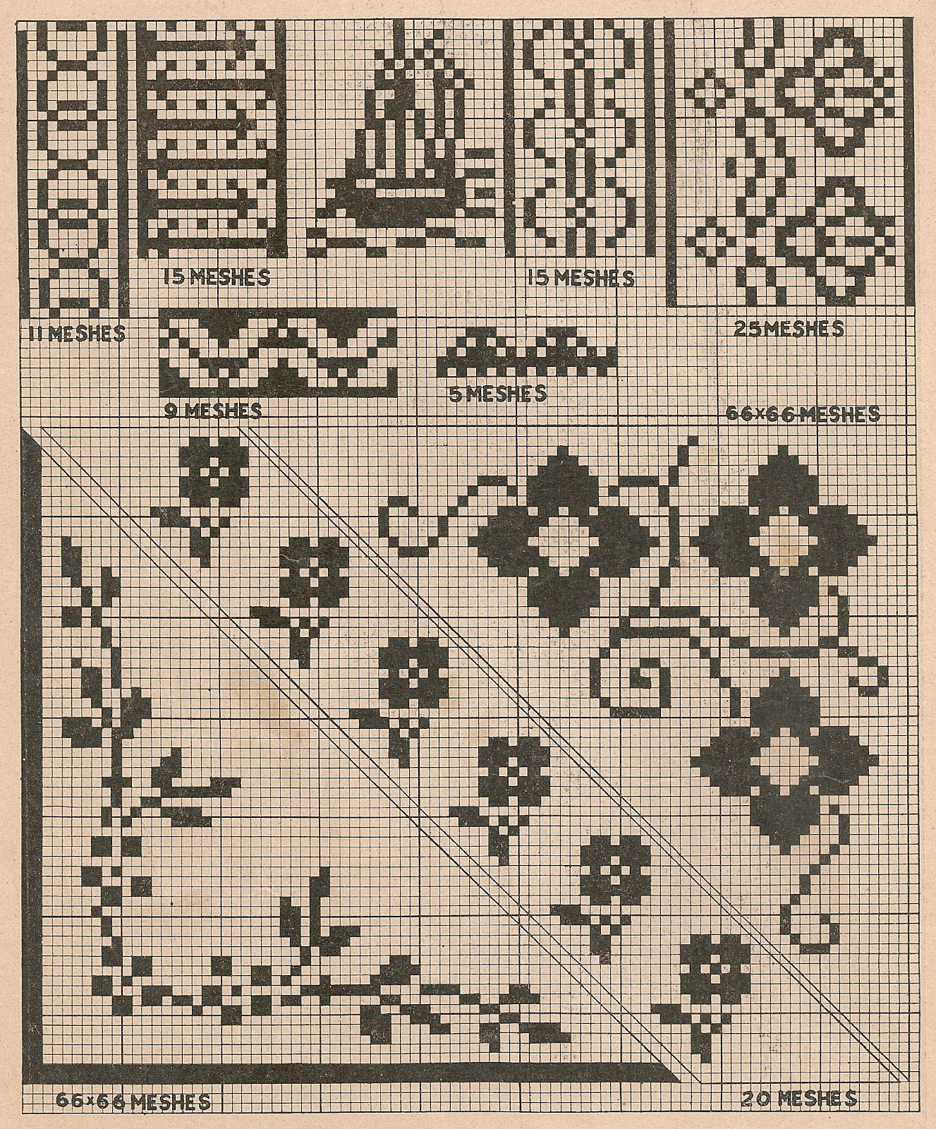 Sentimental baby free simple vintage cross stitch patterns dainty little floral patterns would look lovely on a babys yoke dress either cross stitched or filet crochet dt1010fo
