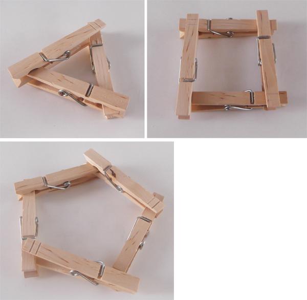 γεωμετρικά σχήματα, τρίγωνο, τετράγωνο, πολύγωνο, μανταλάκια, χειροτεχνίες,