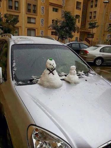 Boneka Salju Pertama Di Mesir