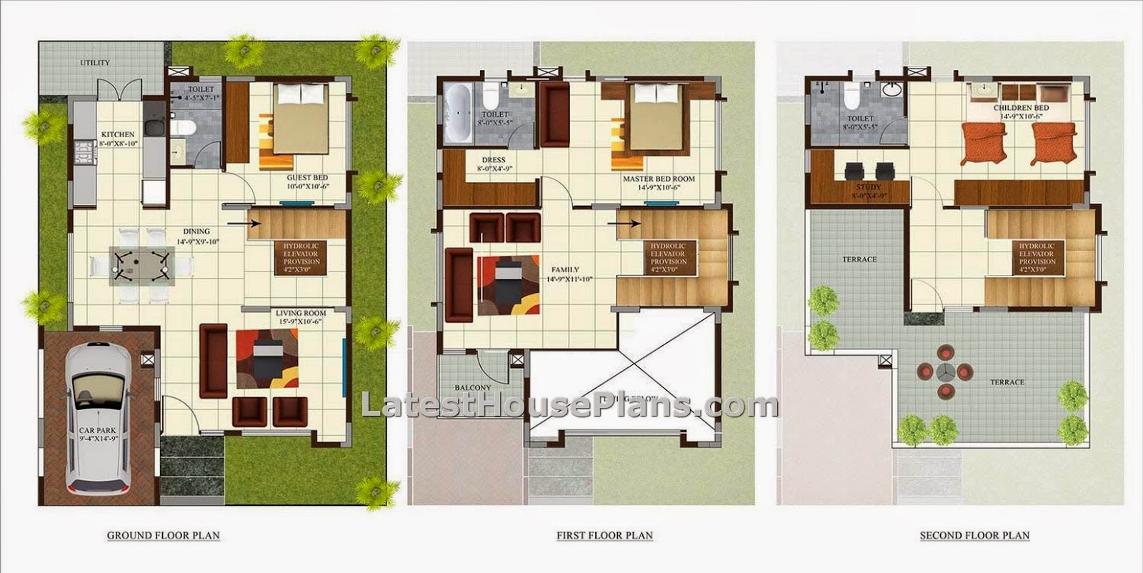 3 Bedroom Independant Villa In 2100 Sqft House Plan