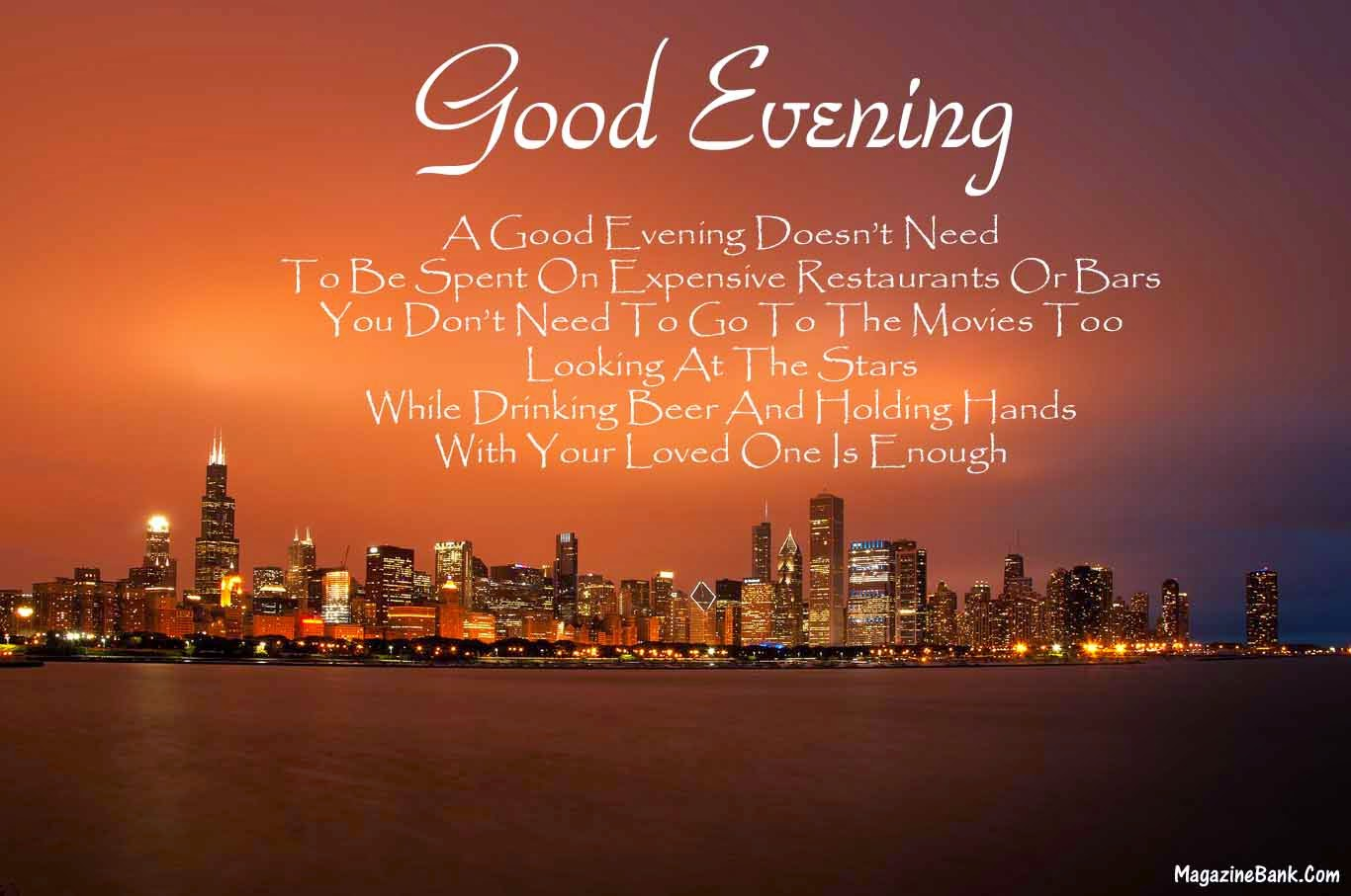 Good Evening Latest Quotes With Pictures
