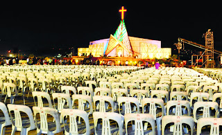 Venue of Thanksgiving in front of South Road Shrine