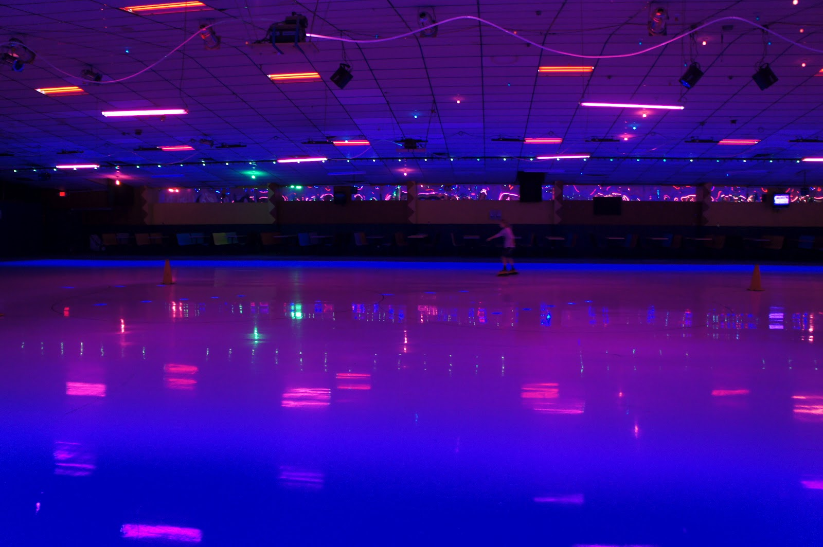 Roller skating rink music - Anyways Roller Skating Was Just Like I Remembered From When I Was A Teenager Dark Dirty Carpet Tacky Florecent Paint On The Walls