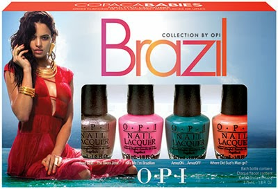 coleção de esmaltes Brazil Collection by OPI kit Copacababies