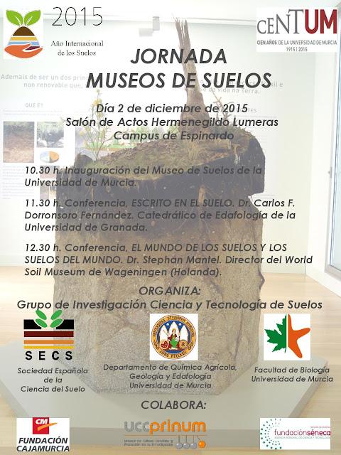 La Universidad de Murcia inaugura su Museo de Suelos en la Facultad de Biología.