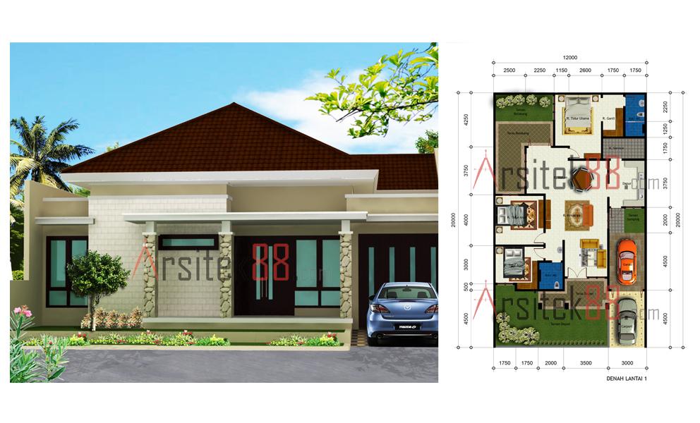 Desain Rumah Ukuran 12 X 8