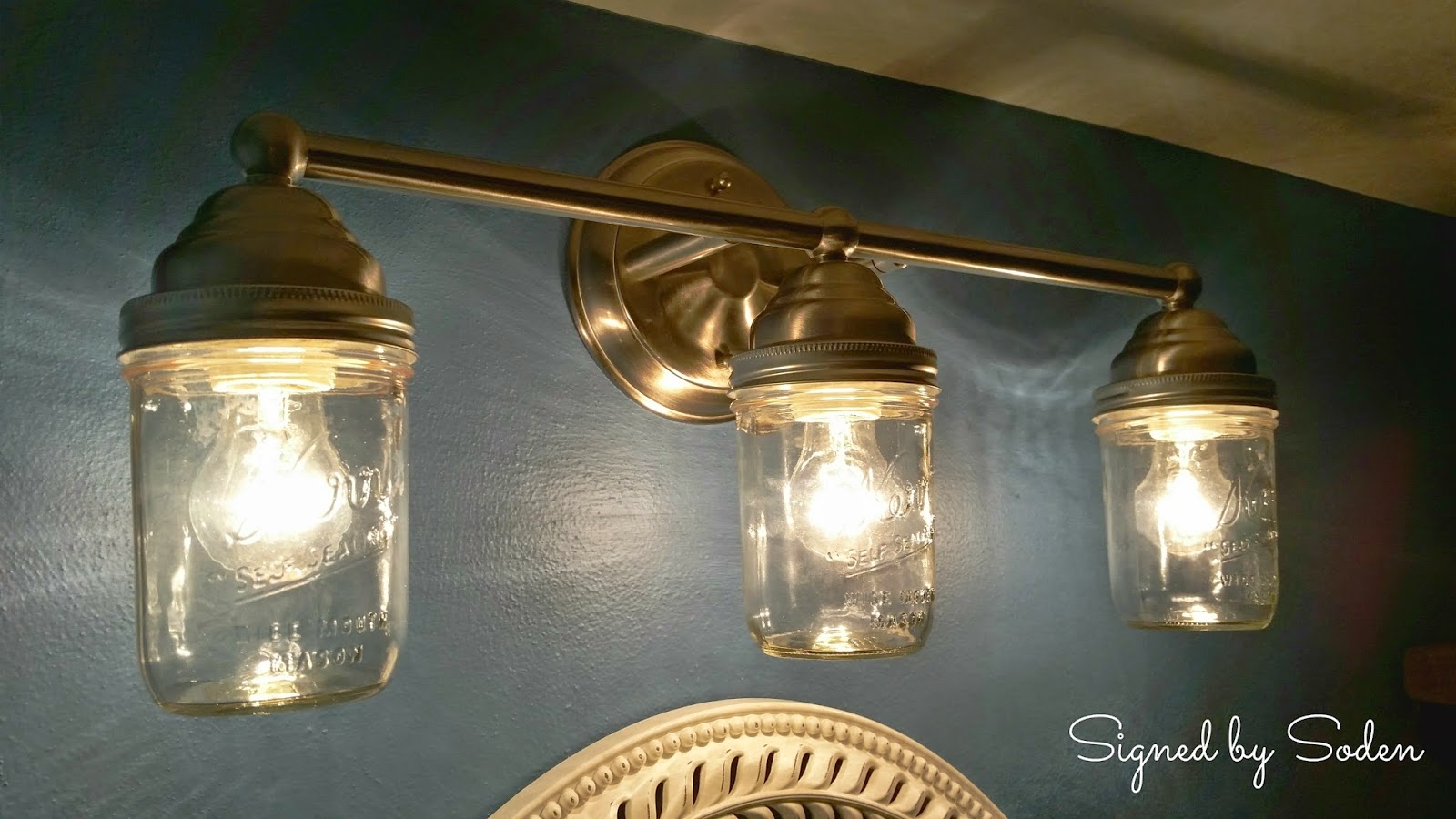 How to make light fixtures with mason jars easy craft ideas for How to make a light fixture