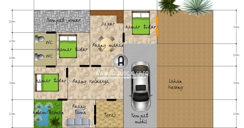 desain sket denah rumah tipe 90 lahan 180 blognya wong