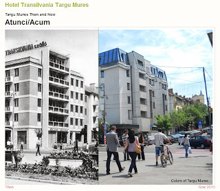 Hotel Plaza, Tirgu-Mures - Then and Now