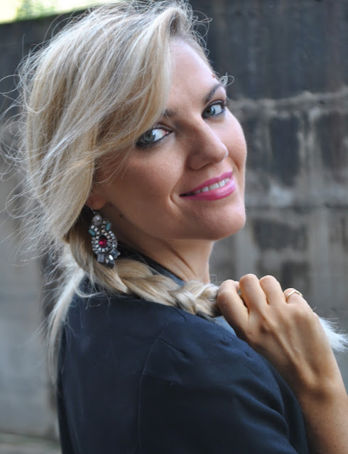 mariafelicia magno fashion blogger color block by felym fashion blog italiani fashion blogger italiane ragazze bionde fashion blogger bionde fashion blogger italiane blog di moda orecchini majique majique london earrings oceanic jewelers blonde girls blonde hair blondie outfit ottobre 2015