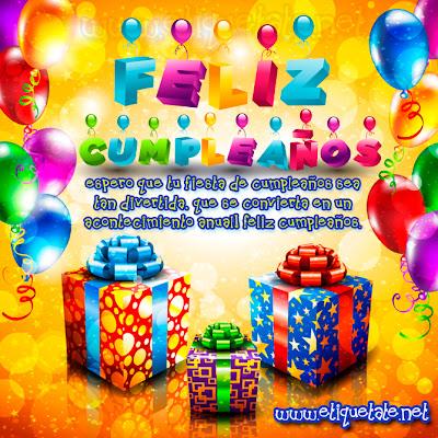 Frases Para Cumpleaños: Feliz Cumpleaños Espero Que Tu Fiesta De Cumpleaños Sea