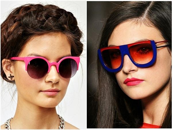 Óculos Diferentes Tendência Redondo Colorido Haste