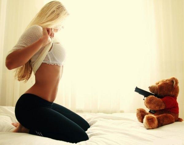 Bear with a Gun blonde flash