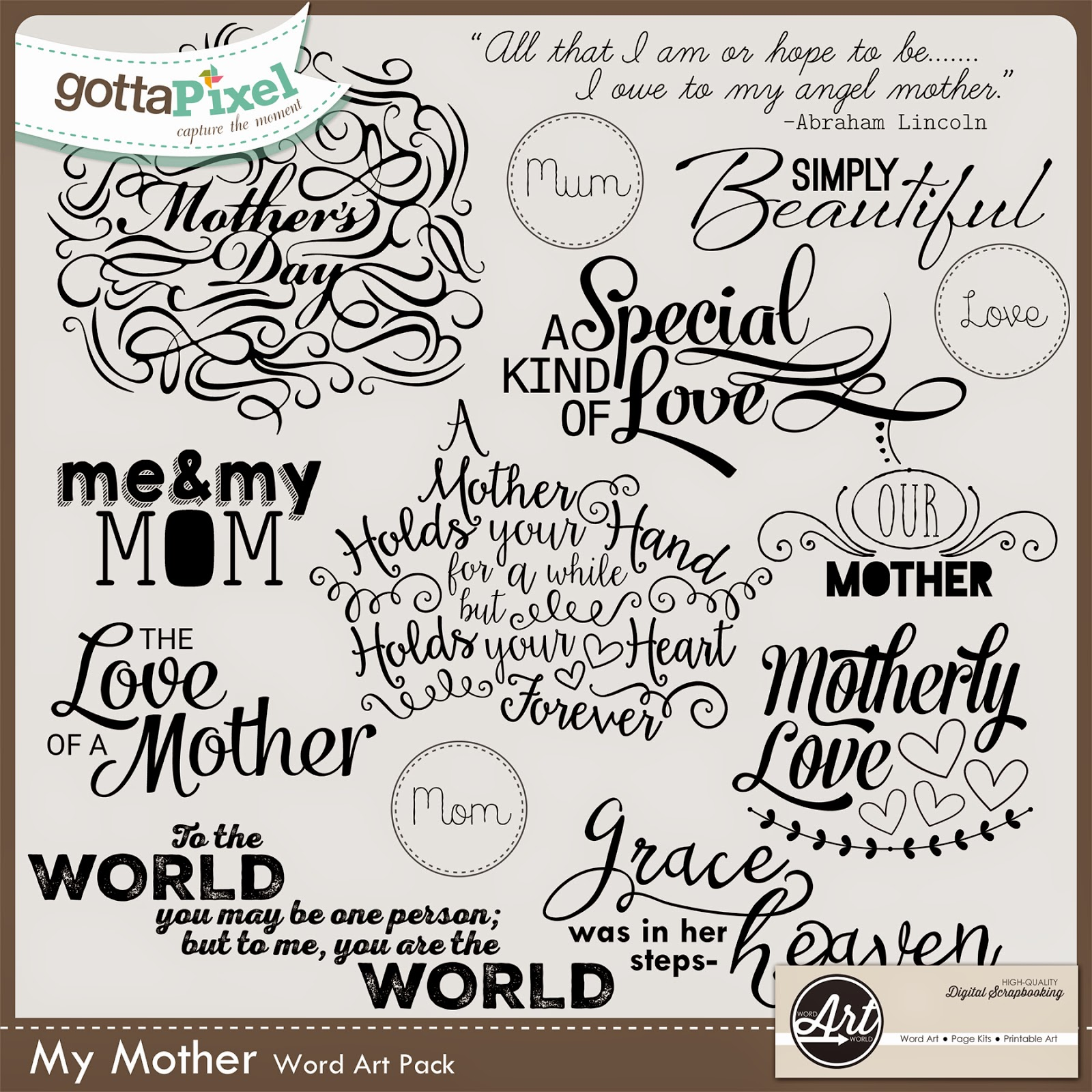 my mothers words A mother is the female parent of a child mothers are women who inhabit or perform the role of bearing some relation to their children, .