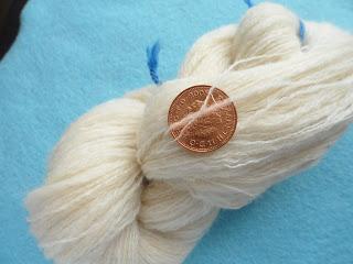 Cobweb gossamer handspun lace yarn merino silk ecru undyed