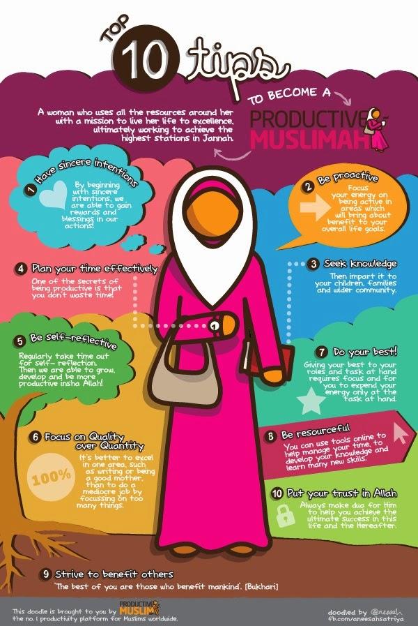 10 Tips Menjadi Muslimah produktif